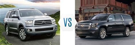 Toyota Sequoia Vs Toyota Land Cruiser 2017 Toyota Sequoia Vs Chevrolet Suburban Swope Toyota