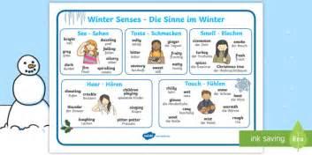 Winter Word Mat by Winter Senses Word Mat German Keywords Seasons