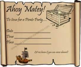 40th birthday ideas free printable pirate birthday invitation templates