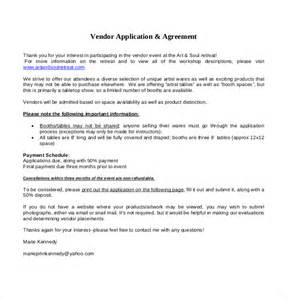 Vendor Application Template Free by Vendor Application Template 12 Free Word Pdf Documents