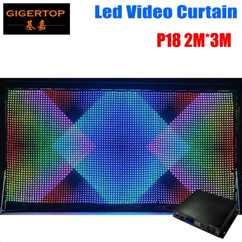 led video curtain p18 2m 3m led video curtain fast ship led vision curtain