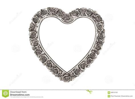 cornice d argento cornice d argento cuore fotografia stock immagine