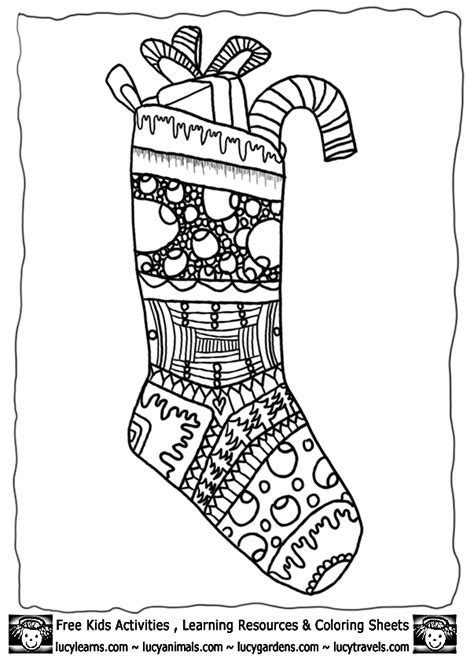 large christmas stocking coloring page christmas stocking coloring pages coloring home
