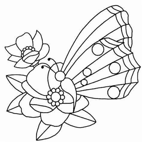 dibujo de mariposa en flores para colorear dibujo de mariposa en las flores para colorear dibujos