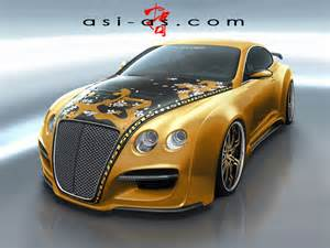 Gold Bentley Asi Bentley Continental Gtr Gold Concept Photo 1 3436