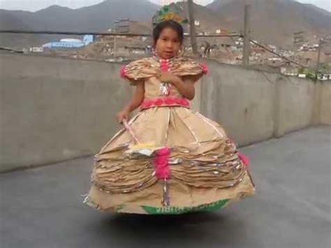 vestidos de la epoca colonial con material reciclable vestido de papel modelo princesa youtube