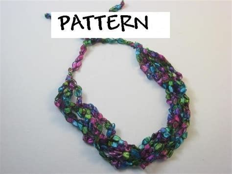 free pattern ladder yarn necklace trellis ladder yarn crochet necklace pattern