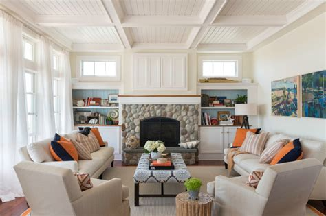 living room providence coastal chic beach style living room