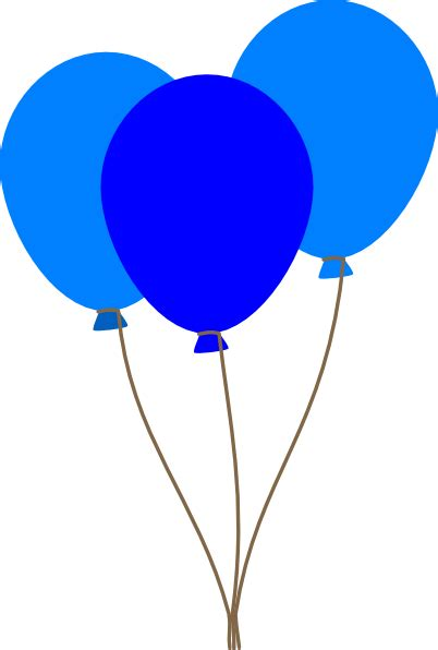 3 blue balloons clip art at clker com vector clip art online royalty free amp public domain