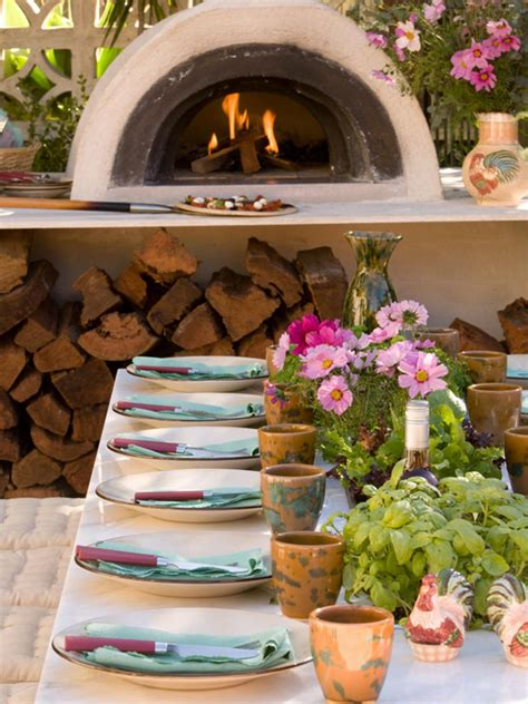 backyard pizza outdoor kitchen designs with fireplace and pizza oven memes