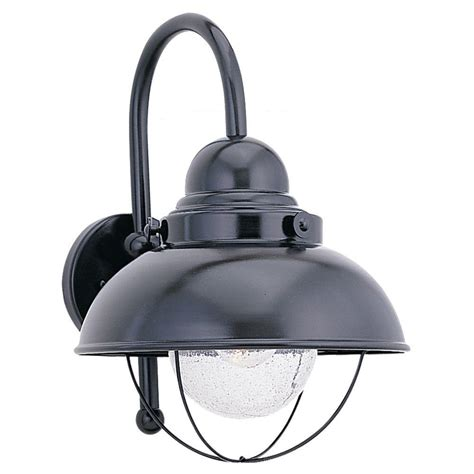 Seagull Light Fixtures Sea Gull Lighting Sebring 1 Light Black Outdoor Wall Fixture 8871 12 The Home Depot
