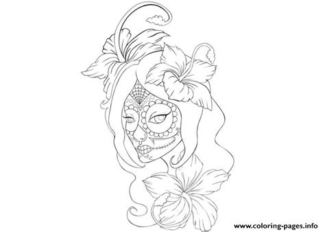 tattoo pictures to color girl skull tattoo coloring page coloring pages printable