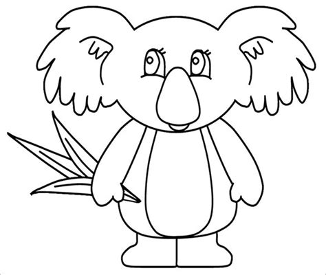template of koala free printable tree coloring pages