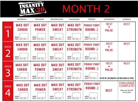 printable version of insanity workout calendar insanity max 30 calendar for workout scheduling
