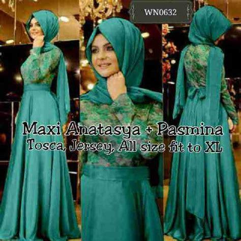 Fashion Muslim Maxi Brukat Rosalinda Maroon Murah baju dress muslim terbaru quot maxi anastasya quot