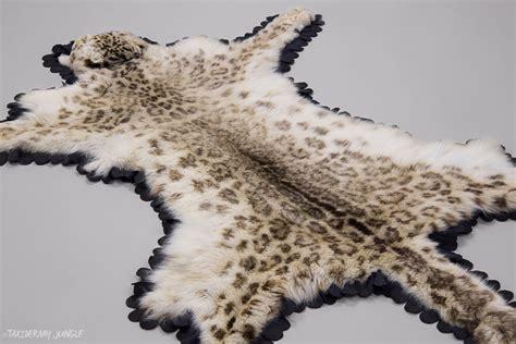 Snow Leopard Rug by Taxidermy Snow Leopard Skin Taxidermy Jungle
