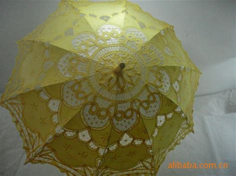 Bridal Umbrella White Lace Parasol Handmade Summer