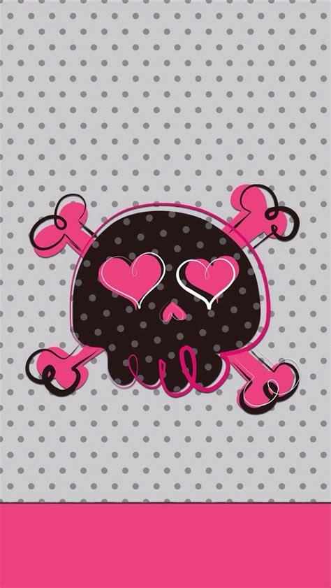 wallpaper girly skull girly skull iphone wallpaper background iphone