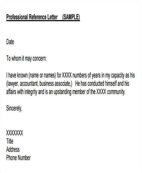 Letter Of Reference For Business Associate 44 business letter exles