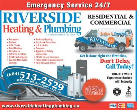 riverside heating plumbing 204 20445 62 ave langley bc