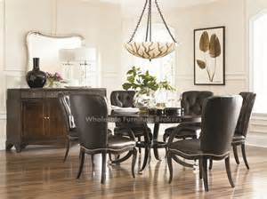 Round Table Dining Room Sets American Drew Sonata 72 Inch Round Table Dining Room Set