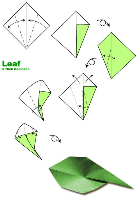 Origami Leaf - origami on origami flowers origami tutorial