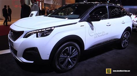 peugeot 3008 white 2017 2017 peugeot 3008 gt line exterior and interior