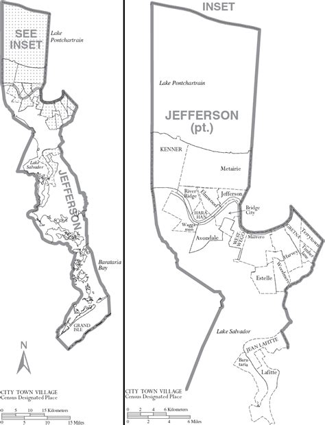 jefferson louisiana map jefferson parish louisiana