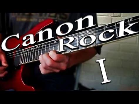 tutorial bermain gitar canon rock belajar petikan gitar lagu canon rock learn to play
