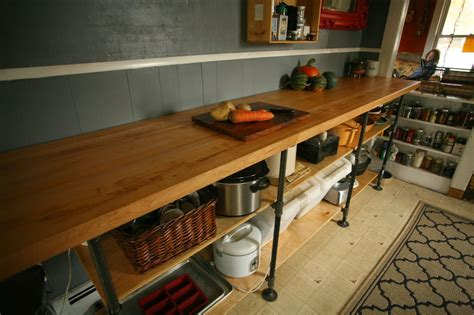 diy kitchen countertops whittled diy black pipe kitchen counter