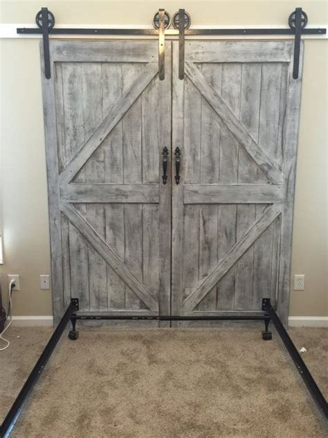 Custom Made Barn Door Headboard Queen With By Barn Door Bed Frame
