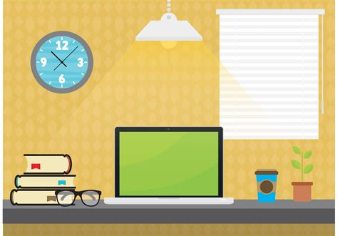 Student Desktop Vector Download Free Vector Art Stock Student Desk Top