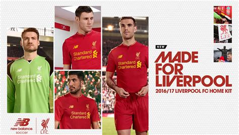 official liverpool 2016 a3 liverpool 2016 17 new balance home kit todo sobre camisetas