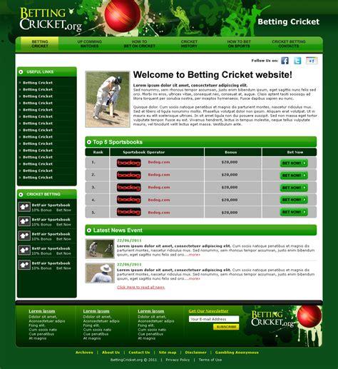 Custom Website Template Cricket Website Templates Free