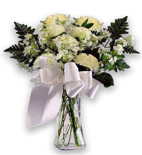 Sympathy Bouquet by White Carnation Sympathy Bouquet Avas Flowers