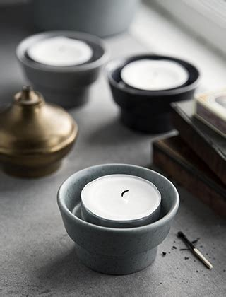 blockkerzenhalter silber leuchter elbdal de skandinavische wohnaccessoires