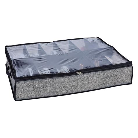 home depot under bed storage simplify 29 in x 24 in x 6 in 12 pair under the bed