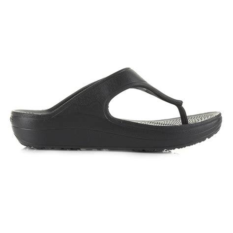 Crocs Platform Slide womens crocs sloane platform black wedge sandals flip