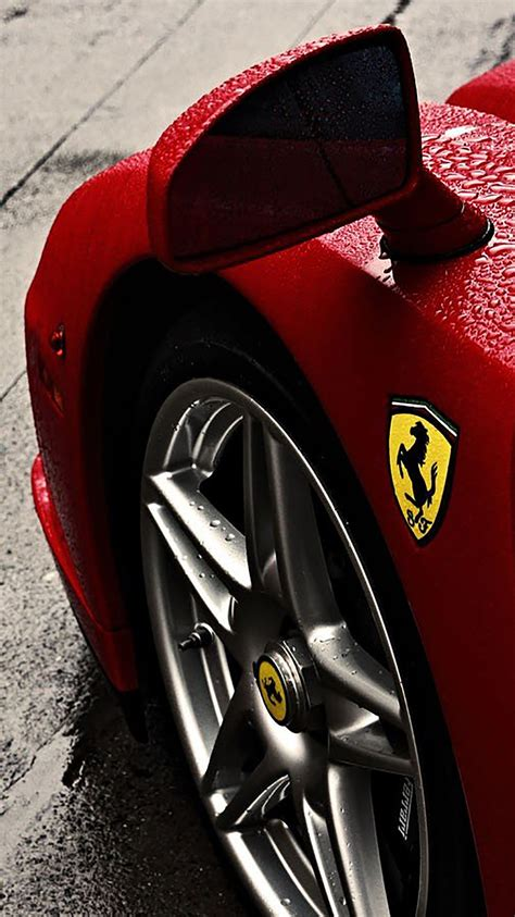 ferrari enzo ferrari logo rain wheel wallpaper