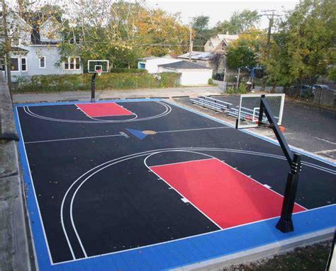backyard outdoor basketball court dimensions backyard
