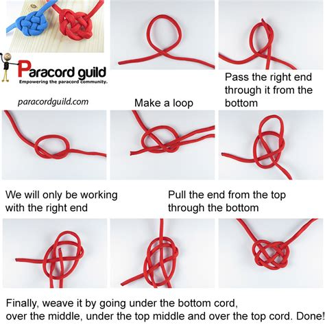Tying Celtic Knots - how to tie a celtic knot paracord guild
