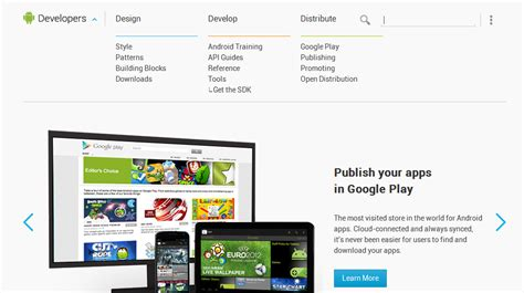 site android android developers site gets redesign