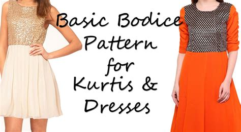 bodice pattern making youtube basic bodice pattern for kurtis dresses youtube