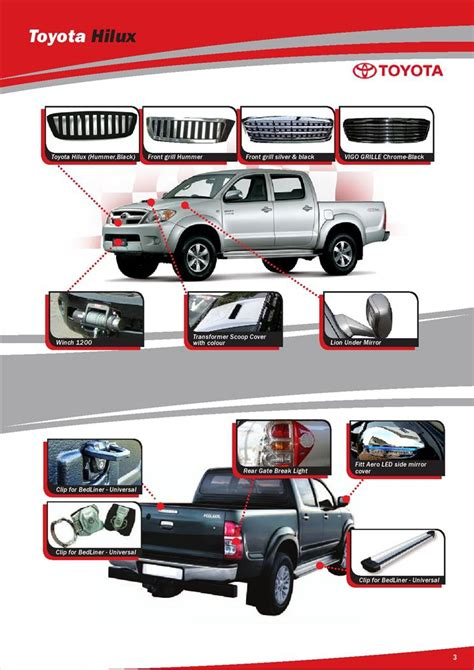 Toyota Auto Parts Toyota Hilux Accessories Styling Catalogue Autos Post