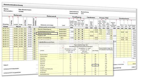 Muster Formular Reisekostenabrechnung Reisekostenabrechnung Excel Vorlage Heise