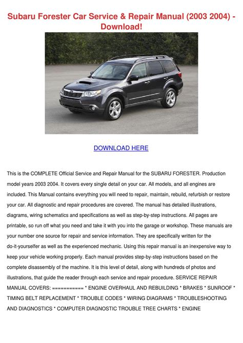 car repair manuals online free 2010 subaru forester free book repair manuals subaru forester car service repair manual 200 by lucretiajanssen issuu