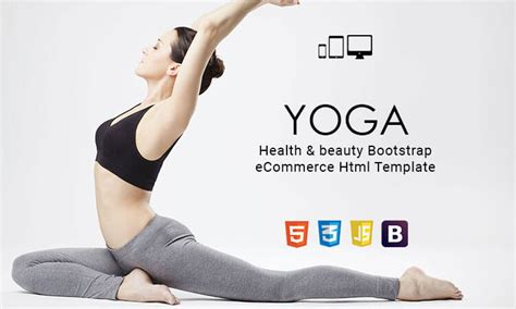 bootstrap templates for yoga yoga health beauty bootstrap ecommerce html template