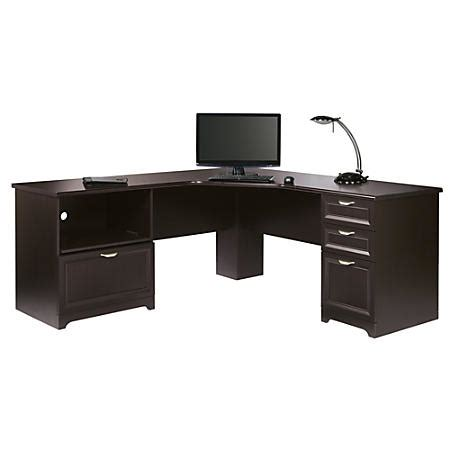 Realspace Desks Realspace Magellan Performance Collection L Desk Espresso