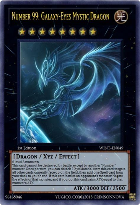 99 Gift Card - number 99 galaxy eyes mystic dragon yu gi oh card maker wiki cards decks