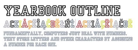 typography yearbook yearbook outline fonts